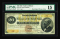 Large Size:Gold Certificates, Fr. 1175 $20 1882 Gold Certificate PMG Choice Fine 15....