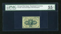 Fractional Currency:First Issue, Fr. 1240 10c First Issue PMG About Uncirculated 55 EPQ....