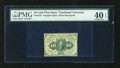 Fractional Currency:First Issue, Fr. 1242 10c First Issue Gutter Fold PMG Extremely Fine 40 EPQ....