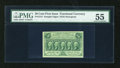 Fractional Currency:First Issue, Fr. 1312 50c First Issue PMG About Uncirculated 55....