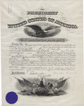 Autographs:U.S. Presidents, Theodore Roosevelt Document Signed ...