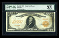 Large Size:Gold Certificates, Fr. 1219b $1000 1907 Gold Certificate PMG Very Fine 25....