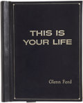 Movie/TV Memorabilia:Memorabilia, Glenn Ford's This is Your Life Presentation Script.... (Total: 2 Items)