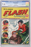 Golden Age (1938-1955):Superhero, Flash Comics #3 Mile High pedigree (DC, 1940) CGC NM+ 9.6 White pages....
