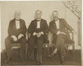 "Autographs:U.S. Presidents, Franklin D. Roosevelt: Inscribed Photograph With Rare Image of FDRWearing Leg Braces.. -9.5"" x 7.75"". Black and white. Fain..."