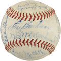 Autographs:Baseballs, 1947 Cleveland Indians Team Signed Baseball....