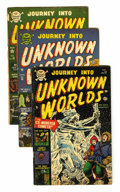 Golden Age (1938-1955):Horror, Journey Into Unknown Worlds #15-17 Group (Atlas, 1953).... (Total:3 Comic Books)