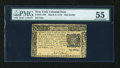 Colonial Notes:New York, New York March 5, 1776 $1/2 PMG About Uncirculated 55....