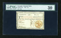 Colonial Notes:Georgia, Georgia 1776 $4 PMG Very Fine 30....