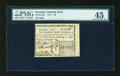 Colonial Notes:Georgia, Georgia 1777 $3 PMG Choice Extremely Fine 45....