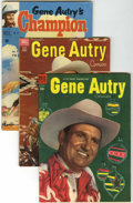 Golden Age (1938-1955):Western, Gene Autry Comics Group (Dell, 1951-54) Condition: Average VG.... (Total: 11 Comic Books)