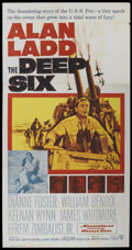 "Movie Posters:War, The Deep Six (Warner Brothers, 1958). Three Sheet (41"" X 81""). War...."