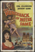 """Movie Posters:Horror, The Hunchback of Notre Dame (Allied Artists, 1957). One Sheet (27"""" X 41""""). Horror...."""