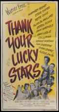 "Movie Posters:Musical, Thank Your Lucky Stars (Warner Brothers, 1943). Three Sheet (41"" X 81""). Musical...."