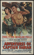 "Movie Posters:Swashbuckler, Adventures of Captain Fabian (Republic, 1951). One Sheet (27"" X 41""). Swashbuckler...."