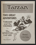 "Movie Posters:Adventure, Tarzan Lot (House of Greystoke, R-1970). Comic Books (2) (11"" X14"") and (10"" X 16.5""). Adventure.... (Total: 2 Items)"