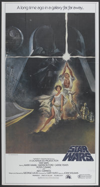 "Star Wars (20th Century Fox, 1977). Three Sheet (41"" X 81"") Style A. Science Fiction"