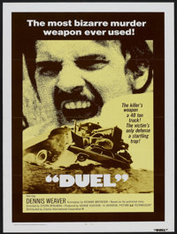"Duel (Universal, 1972). One Sheet (27"" X 41"") Tri-Folded. Action"