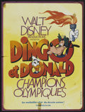 """Movie Posters:Animated, The Olympic Champ (Buena Vista, R-1970s). French Petite (15"""" X 19.75""""). Animated...."""