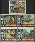"""Movie Posters:War, Flying Leathernecks (RKO, 1951). Lobby Cards (5) (11"""" X 14"""").War.... (Total: 5 Items)"""