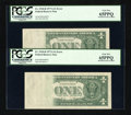Error Notes:Blank Reverse (<100%), Fr. 1910-B $1 1977A Federal Reserve Notes. Two Examples. PCGS Gem New 65PPQ.. ... (Total: 2 notes)