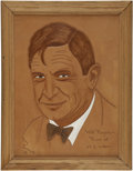 Movie/TV Memorabilia:Original Art, Glenn Ford's Leather Pressing of Will Rogers....