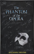 Movie/TV Memorabilia:Autographs and Signed Items, Phantom of the Opera Cast-Signed Poster (1993)....
