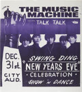 "Music Memorabilia:Posters, Music Machine Swing Ding New Years Eve Concert Poster (CityAuditorium, 1966) 11"" x 12.75""...."