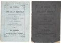 """Books:Pamphlets & Tracts, [Abraham Lincoln Eulogies] Lot of Two Brazilian Eulogies Titled """"AsExequias de Abrahao Lincoln Presidente dos Estados-Uni... (Total: 2Items)"""