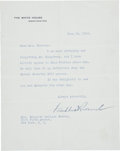 """Autographs:U.S. Presidents, Franklin D. Roosevelt: Typed Letter Signed as President.. -June 26, 1935. Washington, D.C. One page. 7"""" x 9"""". On White House..."""