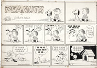 Charles Schulz Peanuts Sunday Comic Strip Original Art, dated 9-8-57 (United Features Syndicate, 1957)