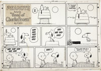 Charles Schulz Peanuts Sunday Comic Strip Original Art, dated 12-8-68 (United Feature Syndicate, 1968)