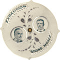 Political:Pinback Buttons (1896-present), McKinley & Roosevelt and Bryan & Stevenson: Rare AluminumMechanical Pinback which Adjusts to Show the Ticket of YourChoice....