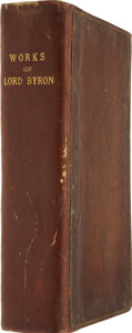 Books:First Editions, Lord Byron (Charles Gordon Noel Byron). The Works of Lord ByronIncluding His Suppressed Poems, Complete in One Volume...