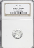 Proof Roosevelt Dimes: , 1951 10C PR69 Cameo NGC. NGC Census: (7/0). Numismedia Wsl. Pricefor NGC/PCGS coin in PR69: $1,700...