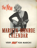 "Movie/TV Memorabilia:Memorabilia, Marilyn Monroe Some Like It Hot Promo ""Calendar""...."