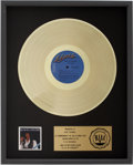 Music Memorabilia:Awards, Elvis Presley Elvis in Concert RIAA Gold Album Award. ...