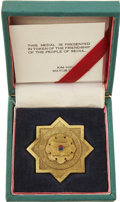 Movie/TV Memorabilia:Awards, Glenn Ford's Friendship Medallion from Mayor of Seoul....