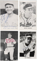 Autographs:Post Cards, Vintage Baseball Stars Signed Postcards Lot of 44.... (Total: 44items)