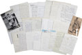 Autographs:Letters, Baseball Old Timers Letters and Notes (Group of 21).... (Total: 21items)
