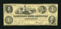 Obsoletes By State:Kentucky, Lexington, KY- Northern Bank of Kentucky at Richmond $1 May 14, 1857. ...