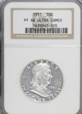 Proof Franklin Half Dollars: , 1951 50C PR66 Ultra Cameo NGC. NGC Census: (10/3). PCGS Population(12/1). Numismedia Wsl. Price for NGC/PCGS coin in PR66...