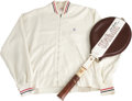 Miscellaneous Collectibles:General, 1960s Jack Kramer Personally Worn Sweater with Racquet. One of theall-time great tennis players was Jack Kramer. He was th...