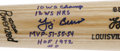"Autographs:Bats, Yogi Berra Single Signed ""Stat"" Bat. Masterful reproduction ofYogi's signature model R43 is unlike any other Berra signed ..."