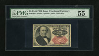 Fr. 1309 25c Fifth Issue PMG About Uncirculated 55 EPQ. This note possesses nice color and paper