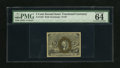 Fractional Currency:Second Issue, Fr. 1233 5c Second Issue PMG Choice Uncirculated 64 EPQ. All four margins are over 1mm on this example. Bronzing is almost c...