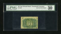Fractional Currency:Second Issue, Fr. 1246 Milton 2R10.3c 10c Second Issue Inverted Back Surcharge PMG Very Fine 30. This Invert is one of the more common Fra...