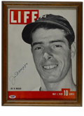 "Autographs:Others, 1939 Signed Joe DiMaggio ""Life"" Magazine. Exceptional 1939 editionof the weekly Life magazine from May 1 features that..."