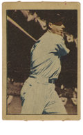 """Autographs:Sports Cards, 1952 Berk Ross Joe DiMaggio, Signed. One of the final """"playing daysera"""" DiMaggio cards issued, distributed during the first..."""