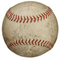 Autographs:Baseballs, 1938 New York Yankees Team Signed Baseball. Remarkable historicalmemento comes to us via the 1938 Bronx Bombers, who were ...